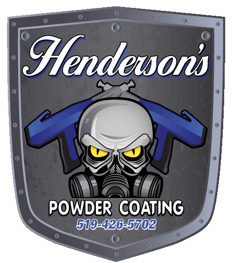 Henderson's Powder Coating logo with phone number 519-426-5702
